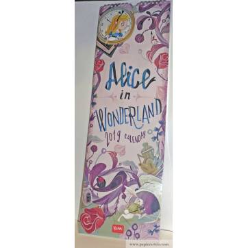 Calendrier 2019 LEGAMI 16 x 49 cm Alice in Wonderland