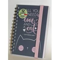 """Agenda 2019 Legami """"All you need is love and a cat"""""""