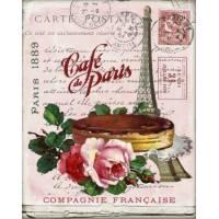 """Carte artisanale Vintage """"Café de Paris"""""""