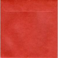 Enveloppe carrée  rouge foncé mat