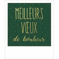 """Carte de voeux format polaroïd """"Meilleurs Voeux de Bonheur"""""""