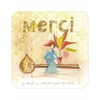 """Carte Anne-Sophie Rutsaert """"Je cherche un mot plus grand que MERCI"""""""