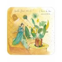 """Carte Anne-Sophie Rutsaert """"Quelle fleur est-il? L'heure de ton Anniversaire"""
