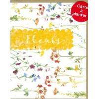 Carte à planter Hannah Marchant Petites Fleurs multicolores, graines Fleurs des champs