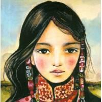 Carte Gwenaëlle Trolez Claudia Tremblay Jeune Fille H mong