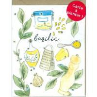 Carte à planter Hannah Marchant Recette graines de Basilic