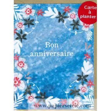 Carte à planter Hannah Marchant Bon anniversaire Fleurs des champs