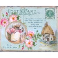 Carte artisanale Vintage Beatrix Potter Mrs Tiggy Winkle