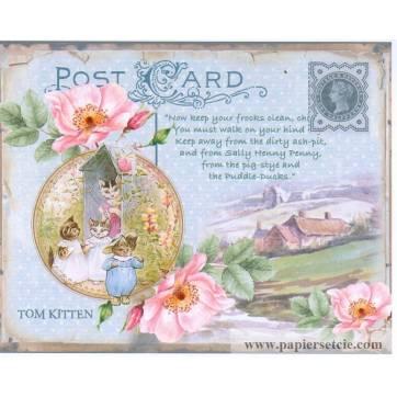 Carte artisanale Vintage de Pâques Tom Kitten