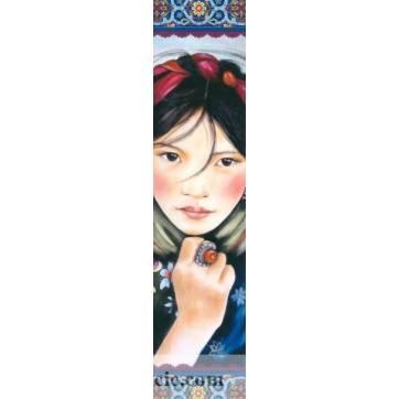 Marque-Pages Gwenaëlle Trolez Claudia Tremblay Femme du Tibet