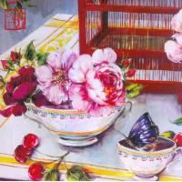 Carte d'art Gwenaëlle Trolez Sophie Addé Table fleurie