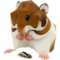 Jouet éducatif en Papier Jeu de Papier Hamster 3D à monter soi-même