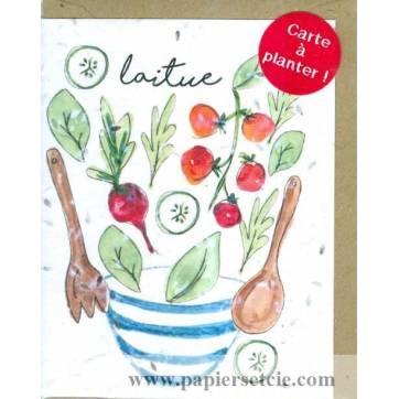Carte à planter Hannah Marchant Salades, Graines de Laitue