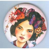 Magnet rond Gwenaëlle Trolez décor de Claudia Tremblay Sayurita