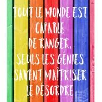 """Carte Citation Humour """" Tout le monde est capable de ranger""""..."""