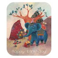 "Carte format ""Ecran"" Izou Happy Birthday Elephant"
